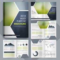 Multi Pupose Brochure set with infographic elements for Business Annual Reports, Cover Design and Presentations.