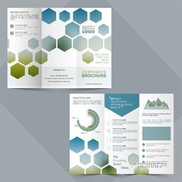 Two Pages, Tri-Fold Corporate Brochure design for your Business reports and presentation.