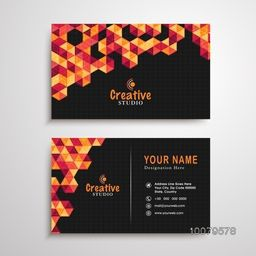 Creative Abstract design decorated, Professional Horizontal Business Card, Name Card or Visiting Card set with front and back presentation.