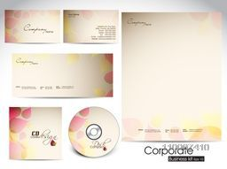 Professional corporate identity kit or business kit with artistic, abstract wave effect for your business includes CD Cover, Business Card, Envelope and Letter Head Designs in EPS 10 format.