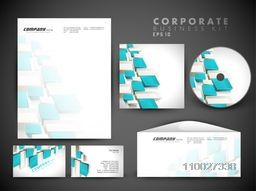 Creative corporate identity kit include CD Cover, Letterhead, Business Card and Envelope with abstract design.
