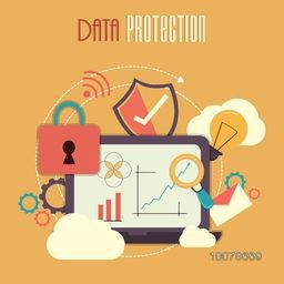 Colorful Infographic elements for Online Safety and Data Protection concept.