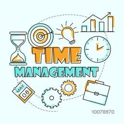 Creative various Infographic element for Time Management concept.