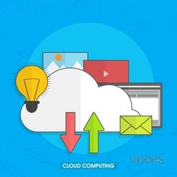 Cloud Computing concept with creative infographic elements.