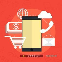 Creative E-commerce web infographic layout for Business planning, financial report, online shopping, project management, development etc.