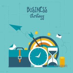 Creative Infographic layout with colorful elements for Business Strategy and success concept.