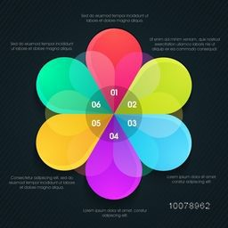 Colorful Infographic element with numbers for professional Business report and presentations.