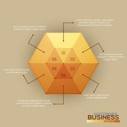 Business Infographic layout with glossy element.