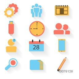 Colorful creative elements for Business concept.