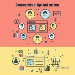 Creative Infographic layout with elements for Conversion Optimization concept.