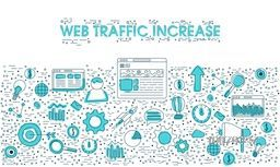 Creative Infographic elements for Web Traffic Increase.