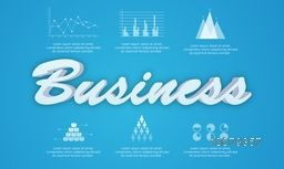 Creative Business Infographic layout with statistical bar, chart and graphs.