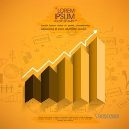 Creative infographic element layout showing growth for your Business presentation.