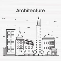 Modern flat style illustration of Architecture Engineering Construction and Building Planning.One page Web Design template, Hero Image concept, Website Elements layout.