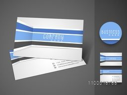 Professional stylish business card or visiting card set design.