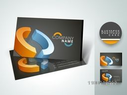 Stylish professional business card set or visiting card set with colorful 3D circle shape.