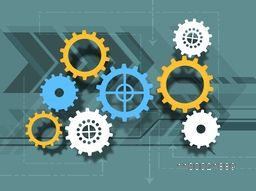 Creative cogwheel, gear or setting symbol for business concept.