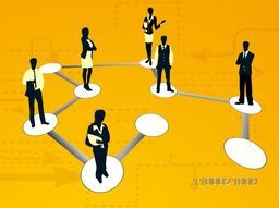 Vector illustration of Young Business Peoples communicating on Social Networking Circle.