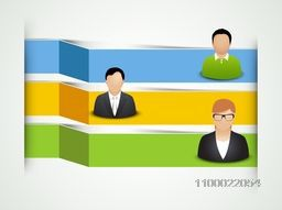 Blank glossy infographic layout with business people.
