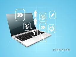 Illustration of a laptop with web sign or symbol for business concept.