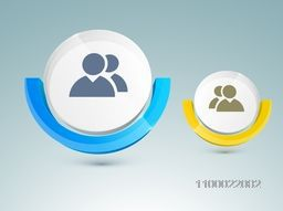 Illustration of account or user symbol for business concept.