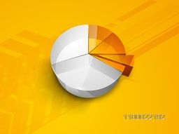 Creative 3D infographic pie chart for business concept.