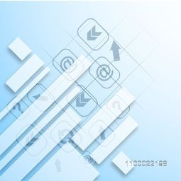 Flat web sign or symbols with abstract design for business concept.