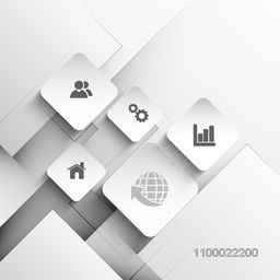 Creative flat web sign or symbols for business concept.