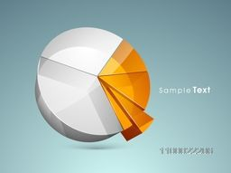 3D creative infographic pie chart for business concept.