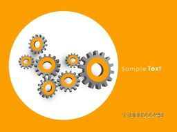 3D cogwheel, gear or setting symbols for business concept.