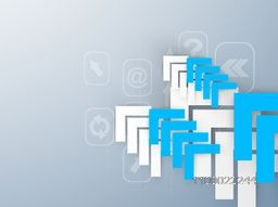 Vector abstract arrows with web sign or symbol for business concept.