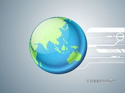 Illustration of world globe on abstract background for business concept.