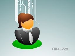 Vector sign or symbol of Businesswoman.