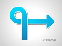 Creative abstract arrow for business concept.