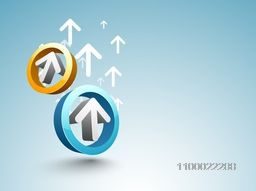 3D abstract arrows in circle shape for business concept.