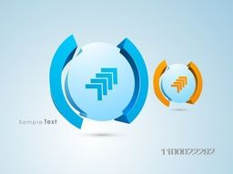 3D abstract business element with arrows.