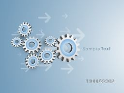 3D glossy cogwheel, gear or setting symbol for business concept.