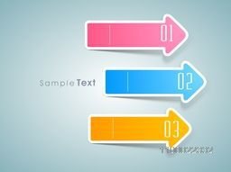 Colorful paper infographic arrows with numbers for business concept.
