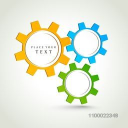 Colorful creative cogwheel, gear or setting symbol.