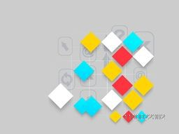 Colorful abstract shapes with web sign or symbols for business concept.