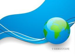 Vector illustration of a world globe on abstract background.