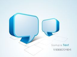 3D blank speech bubble for communicating concept.