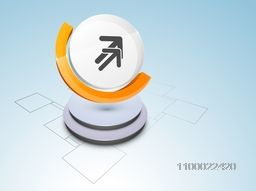 Vector 3D element with arrows for business concept.
