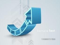 Creative 3D abstract arrow for business concept.