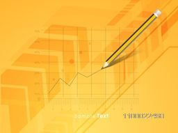 Illustration of a pencil creating infographic chart.