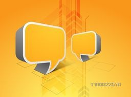 3D speech bubble for business concept.