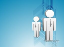 Flat illustration of 3D Businessmen symbol on abstract arrows background.