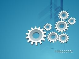 Vector illustration of Cogwheel, Setting or Gear symbol for business concept.