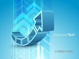 3D creative abstract up side growth arrow for business concept.