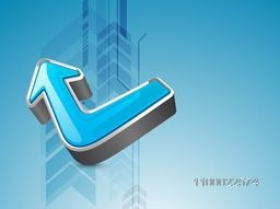 3D glossy Arrow for Business concept.